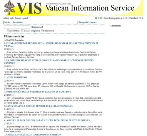 Vatican Information Services