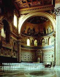 Basílica de San Juan de Letrán (Roma). Decoración del ábside